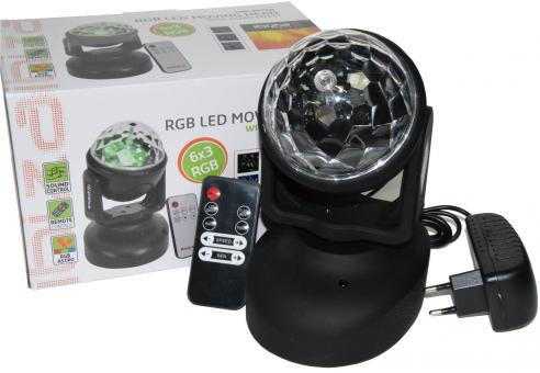 "LED-Moving Head IBIZA ""LMH-ASTRO"" 6x RGB LEDs, 18W"