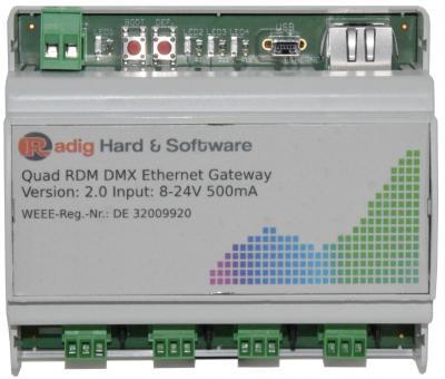 Quad RDM DMX Ethernet Gateway
