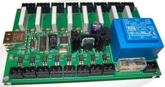 AVR Ethernet 8 Kanal I/O Leiterplatte