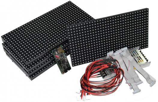 160 x 16 RGB LED Laufschrift DIY Set
